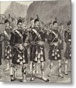 Lord Archibald Campbell And His Pipers Marching Through The Pass Of Glencoe Metal Print