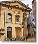 Lord Clarendon's Statue, Clarendon Building, Oxford Metal Print