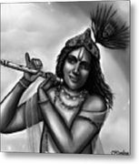 Lord Krishna Metal Print