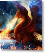 Lord Of The Celestial Dragons Metal Print by Philip Straub