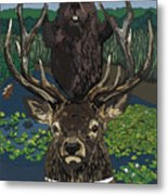 Lord Of The Manor With Hidden Pictures Metal Print
