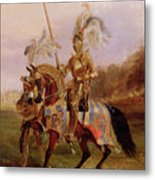 Lord Of The Tournament Metal Print by Edward Henry Corbould