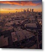 Los Angeles At Sunset Metal Print
