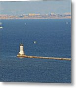 Los Angeles Harbor Light - Angel's Gate - California Metal Print