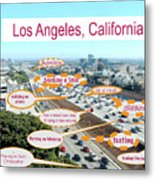 Los Angeles Highway To Heaven Metal Print
