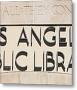 Los Angeles Public Library 0588 Metal Print