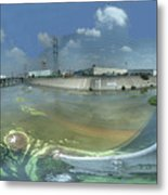 Los Angeles River Bandini Avenue Bridge North Metal Print