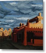 Los Farolitos,the Lanterns, Santa Fe, Nm Metal Print