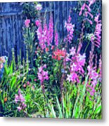 Los Osos Flower Garden Metal Print