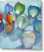Lose Your Marbles 2 Metal Print
