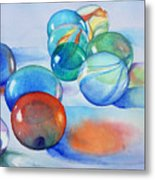 Lose Your Marbles Metal Print