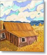 Lost Cabin In The Mountains Metal Print by Sydne Archambault