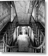 Lost Glory Staircase - Abandoned Castle Metal Print