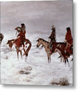 'lost In A Snow Storm - We Are Friends' Metal Print