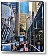 Lost In Reflection. Wandering The Metal Print