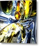 Lost In Space Abstract Metal Print