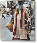 Lost In The City Metal Print