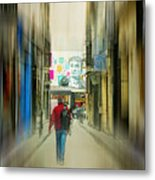 Lost In The Maze Of The City Metal Print