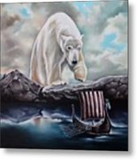 Lost In The World Of Giants Metal Print