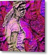 Lost In Thoughts Of Self Reflection Metal Print