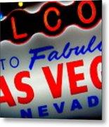 Lost In Vegas Metal Print