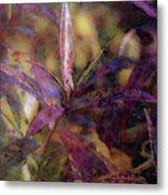Lost Leaves Decorated In Purple 6003 Ldp_2 Metal Print