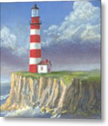 Lost Point Light Metal Print