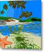 Lost Starfish On A Beach Metal Print