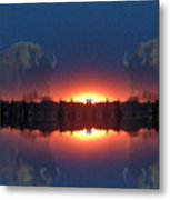 Lost World Reflections Metal Print