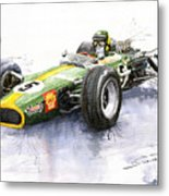 Lotus 49 Ford F1 Jim Clark Metal Print