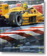 Lotus 99t 1987 Ayrton Senna Metal Print