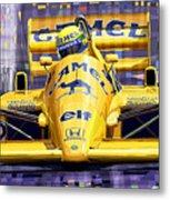 Lotus 99t Spa 1987 Ayrton Senna Metal Print by Yuriy  Shevchuk