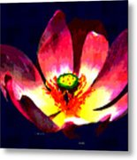 Lotus Blue Metal Print