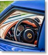 Lotus Evora S Steering Wheel -1858c Metal Print