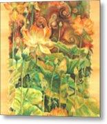 Lotus Field Metal Print