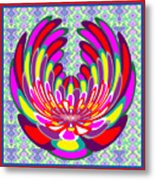 Lotus Flower Stunning Colors Abstract  Artistic Presentation By Navinjoshi Metal Print