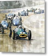 1961 Germany Gp  #7 Lotus Climax Stirling Moss Winner  Metal Print