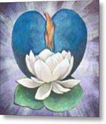Lotus Heart Light Metal Print