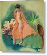 Lotus Maiden Metal Print