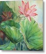 Lotus Of Hamakua Metal Print