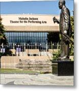 Louis Armstrong Bronze - Mahalla Jackson Theater - New Orleans Metal Print