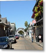 Louis Armstrong Park - Straight Ahead - New Orleans Metal Print