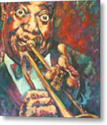 Louis Armstrong Metal Print by Tachi Pintor
