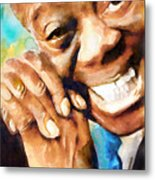 Louis Armstrong  What A Wonderful World  Metal Print