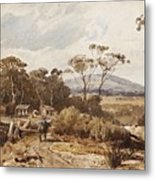 Louis Buvelot , At Ballan, 1876 Metal Print