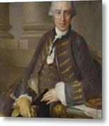 Louis-gabriel Blanchet Paris 1705 - 1772   Portrait Of A Gentleman Metal Print