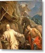 Louis Galloche - Saint Martin Sharing His Coat With A Beggar Metal Print