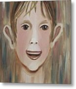 Louis In The Pool Metal Print by Suzanne  Marie Leclair