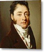 Louis-leopold Boilly - Portrait Of A Gentleman Metal Print