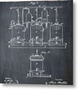 Louis Pasteur Brewing Beer And Ale Patent 1873 Chalk Metal Print